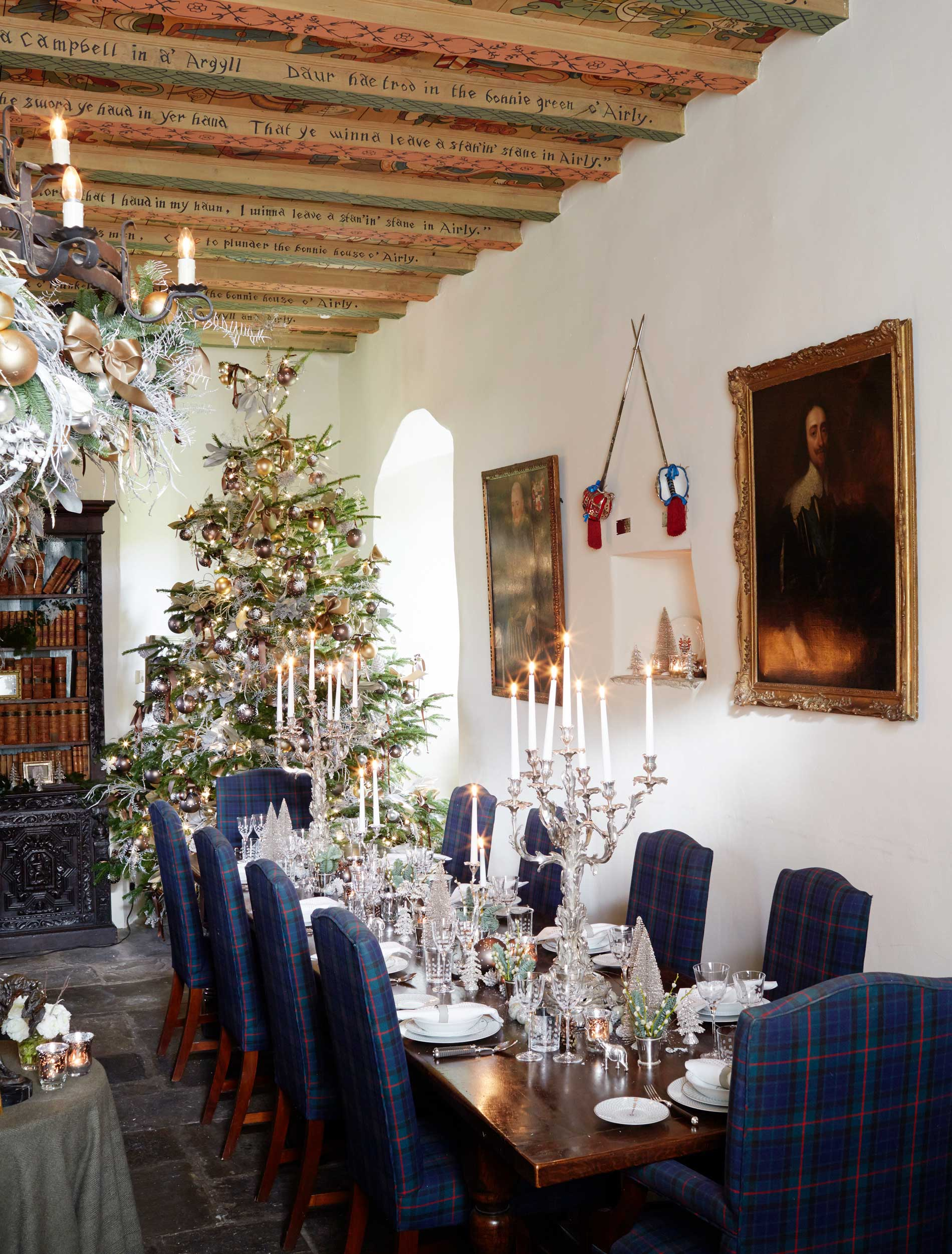 Forter Castle at Christmas