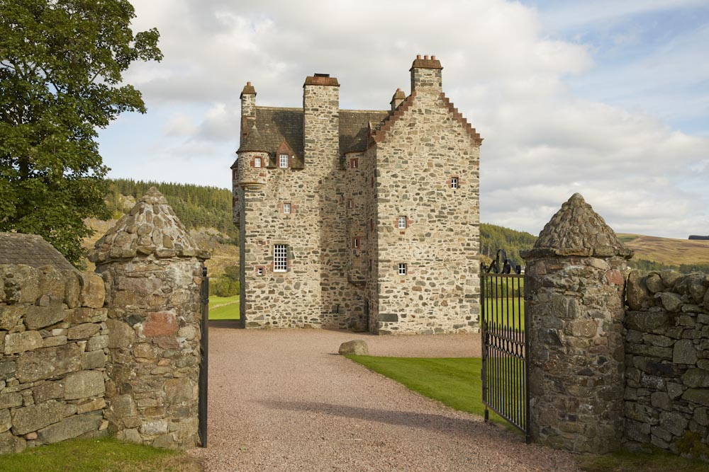 Forter castle exterior shot in the summer.